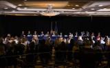 ペンシルべニア州上院多数派政策委員会はウィンダム・ゲティスバーグ・ホテルで公聴会を開き、2020年の選挙不正行為について、トランプ大統領の弁護士ルディ・ジュリアーニと話し合っている=2020年11月25日(Samuel Corum/Getty Images)