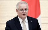 中国SNSが言論介入し、豪モリソン首相の投稿を遮断した。写真は11月17日、来日時に菅義偉首相との会談に臨むモリソン首相 (Photo by KIYOSHI OTA/POOL/AFP via Getty Images)