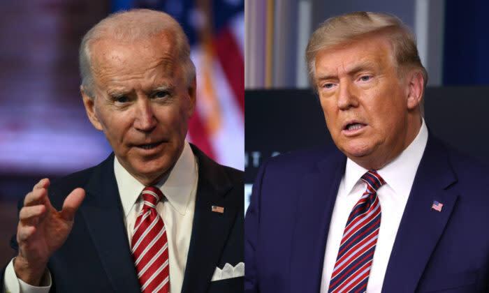 民主党のジョー・バイデン候補とトランプ米大統領 (Getty Images)