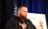 ジェシー・モーガン(Jesse Morgan)氏はバージニア州アーリントンの記者会見で、選挙の不正行為について証言した=2020年12月1日(亦平/大紀元)