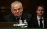 米国防総省、ギングリッチ議員や戦略家ルトワック氏らを新たな国防政策委員会メンバーに任命した。写真は2007年1月、上院外交関係委員会に出席したルトワック氏(Jamie Rose/Getty Images)