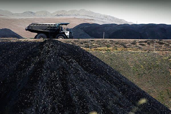 世界最大の鉱業企業、オーストラリアBHPグループの鉱山(Ian Waldie/Getty Images)
