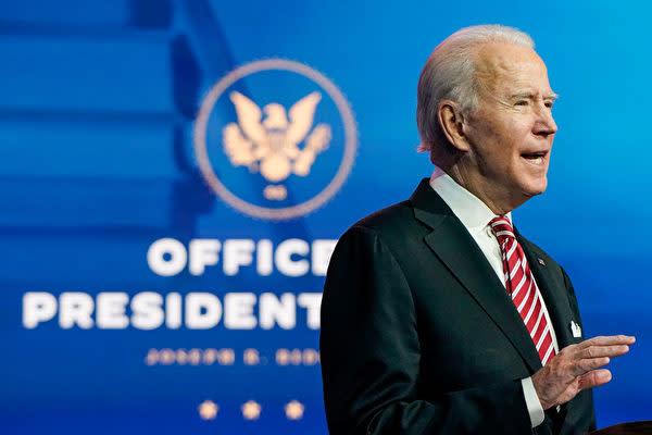 米国大統領選挙で、連邦議会に当選を認定されたジョー・バイデン氏(Joshua Roberts/Getty Images)