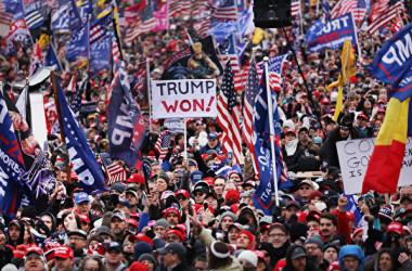 2021年1月6日、米国各地のトランプ大統領支持者がワシントンD.C.に集まり、大統領選挙の不正疑惑を抗議した(Spencer Platt/Getty Images)