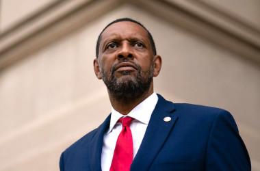 ジョージア州議会のバーノン・ジョーンズ(Vernon Jones)下院議員(民主党)(ELIJAH NOUVELAGE/AFP via Getty Images)