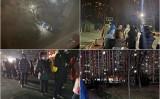 中国北京市大興区では、深夜、区民はPCR検査を受けるため長い列をつくった(微博より)