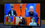 2020年12月30日、EUと中国は投資包括協定に基本合意した(JOHANNA GERON/POOL/AFP via Getty Images)