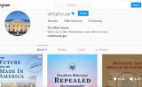 バイデン氏のホワイトハウスのアカウントページのフォロワー数は就任直後、100万人に満たなかった(Instagram)