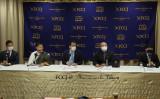 FCCJにて記者会見を行う民主活動家たち(公益社団法人日本外国特派員協会)