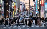 2021年1月13日、東京都新宿区の様子(KAZUHIRO NOGI/AFP via Getty Images)