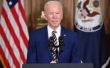 2021年2月4日、バイデン米大統領は国務省で外交方針について演説した(SAUL LOEB/AFP)