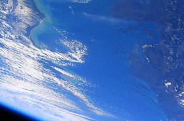 宇宙から見たアドリア海の様子(野口さんのツイッターより)