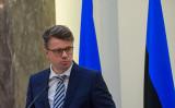 エストニアのウルマス・リンサル(Urmas Reinsalu)外相(GINTS IVUSKANS/AFP via Getty Images)
