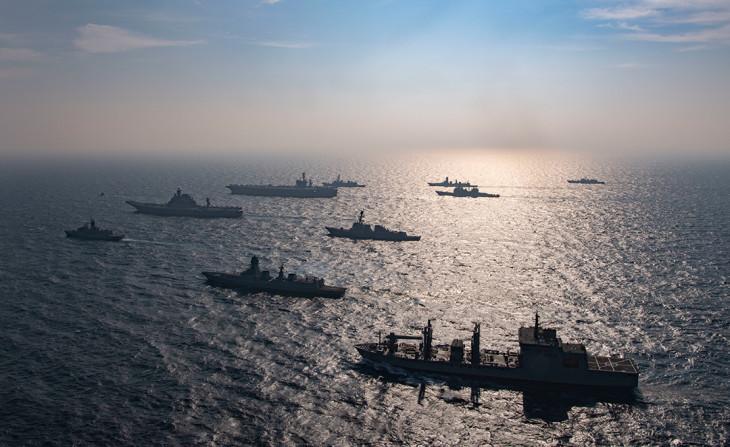 2020年には日米豪印4か国がインド洋で合同海軍演習(US Navy)