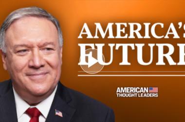 2021年2月27日、大紀元の「アメリカの思想リーダー」のインタビューで話すポンペオ前国務長官(大紀元)