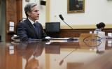 2020年3月10日、米下院外交委員会の公聴会に出席したブリンケン国務長官(Ken Cedeno-Pool/Getty Images)