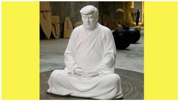 タオバオで販売されているトランプ氏の坐像(TRT World//twitter)