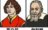 コペルニクス(左)とガリレオ(挿絵=大紀元)