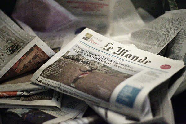 写真はフランスの日刊紙ル・モンド(Le Monde) (MATTHIEU ALEXANDRE/AFP via Getty Images)