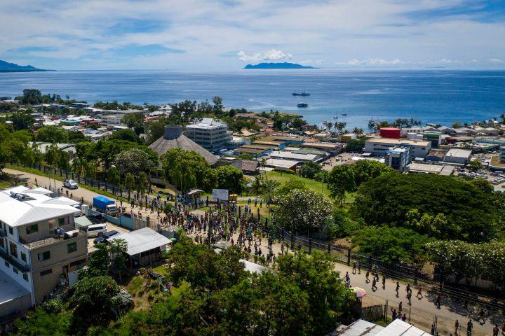 ソロモン諸島の首都ホニアラ(ROBERT TAUPONGI/AFP via Getty Images)