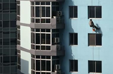中国のマンションの写真。イメージ写真(WANG ZHAO/AFP/Getty Images)