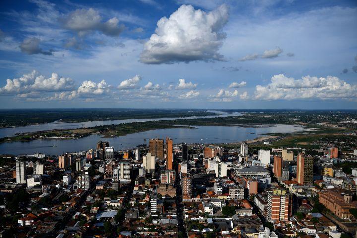 パラグアイの首都アスンシオン(FRANCK FIFE/AFP via Getty Images)
