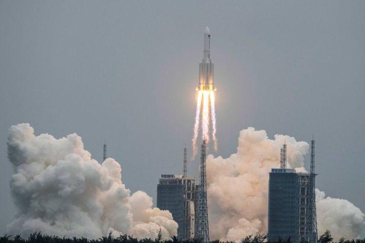 中国は4月29日、独自の宇宙ステーションの基幹施設を打ち上げたと発表した(Getty Images)