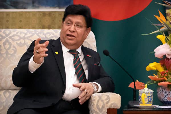 バングラデシュのA.K.アブドゥル・モメン(A. K. Abdul Momen)外相(MARK SCHIEFELBEIN/AFP via Getty Images)