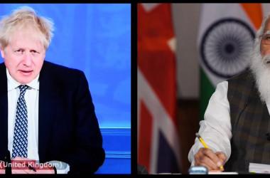 英印首脳、中期計画「2030ロードマップ」に合意(スクリーンショット)