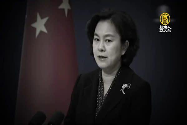 中国外務省の華春瑩報道官(新唐人テレビよりスクリーンショット)