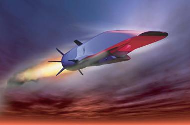 米空軍の無人極超音速飛行機X-51Aウェーブライダー(US AIR FORCE/AFP)