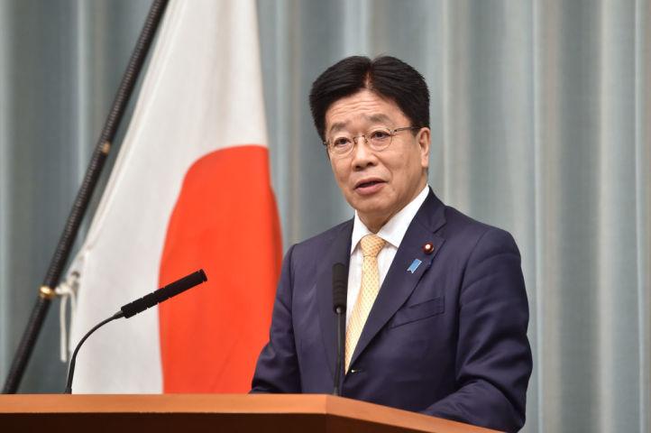 加藤勝信官房長官 (Photo by KAZUHIRO NOGI/AFP via Getty Images)