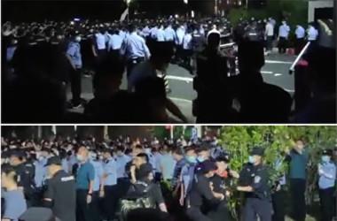 南京師範大学中北学院の抗議活動は警察によって鎮圧された(スクリーンショット)