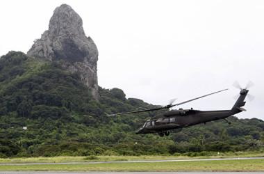 ブラジル空軍のUH-60ブラックホーク軍用ヘリコプター。参考写真((EVARISTO SA/AFP via Getty Images))