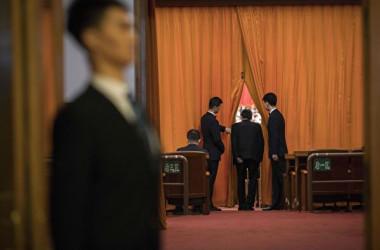 2018年3月5日、中国で全人代が開催された(NICOLAS ASFOURI/AFP/Getty Images)