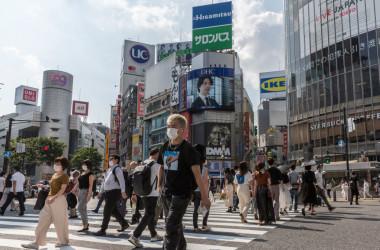 5月東京・渋谷の交差点(Yuichi Yamazaki/Getty Images)