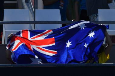 オーストラリアの国旗。イメージ写真(PETER PARKS/AFP via Getty Images)