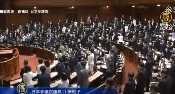 11日の参院本会議で、世界保健機関(WHO)総会への台湾のオブザーバー参加を認めるよう関係各国に呼び掛ける決議が全会一致で可決された(NTDTVのスクリーンショット)