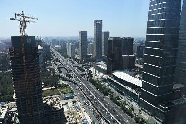 中国北京市のビジネス中心街(GREG BAKER/AFP via Getty Images)