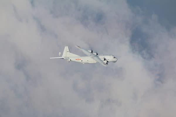 6月26日、台湾南西部ADIZに侵入した中国軍機(台湾国防部)