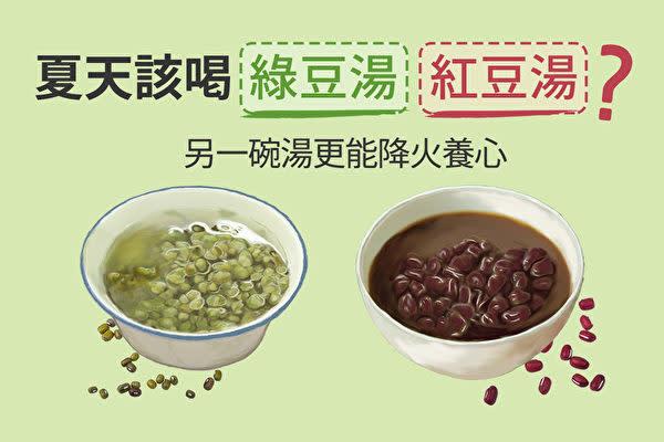 夏の暑い時期。体内の「火気」を下げるには、緑豆か紅豆か、どちらの豆スープがいいでしょう?(健康1+1/大紀元)