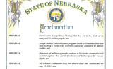 米国ネブラスカ州のピート・リケッツ(Pete Ricketts)知事は、7月を「共産主義による犠牲者の追悼月間」と定めた。その宣言書スクリーンショット(ネブラスカ州)