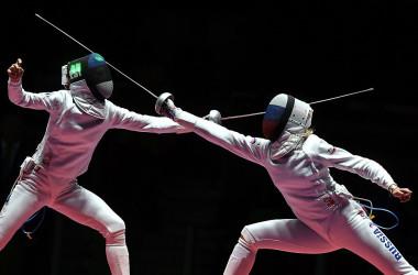 2016年リオデジャネイロオリンピックで実施される女子フェンシング。参考写真(Photo credit should read KIRILL KUDRYAVTSEV/AFP via Getty Images)