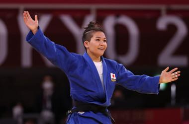 柔道女子の渡名喜風南選手は24日、今大会初となるとなる銀メダルを獲得した(Photo by Harry How/Getty Images)