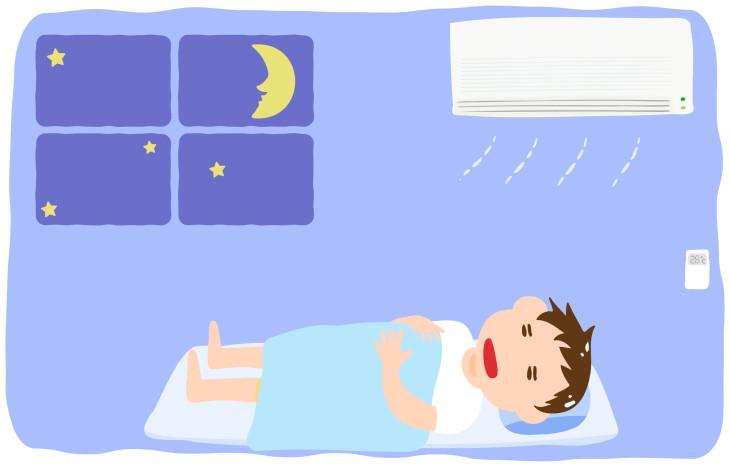 タイマー設定を忘れてエアコンをつけたまま就寝すると、思わぬ病気を招くことがあります。(TKM / PIXTA)   (K.Nakano / PIXTA)