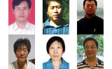 2021年上半期に連行された一部の学習者 上左から楊峰さん、李蘭強さん、朱宇飆さん 下左から姜広鳳さん、祁麗君さん、趙鋒慧さん