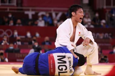 競技中の永瀬貴規選手(Photo by Harry How/Getty Images)