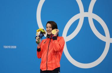 女子400メートル個人メドレーと女子200メートル個人メドレーで金メダルを獲得した大橋悠依選手。(Photo by Tom Pennington/Getty Images)
