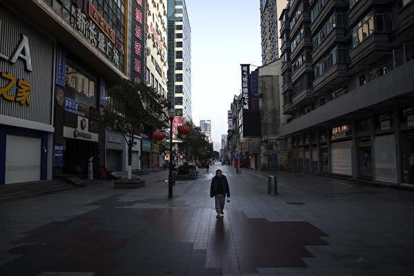 2020年3月、武漢市内で撮影(GettyImages)