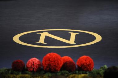 ノーベル財団のロゴ(OLIVIER MORIN/AFP via Getty Images)